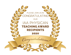 Congratuations-IAA-Physicians-receiving-2020-Teaching-Awards